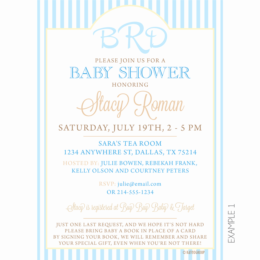 Baby Shower Invitation Examples Inspirational Monogram Baby Shower Invitation