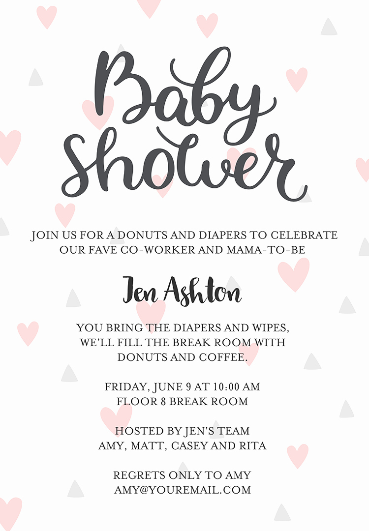Baby Shower Invitation Examples Lovely 22 Baby Shower Invitation Wording Ideas