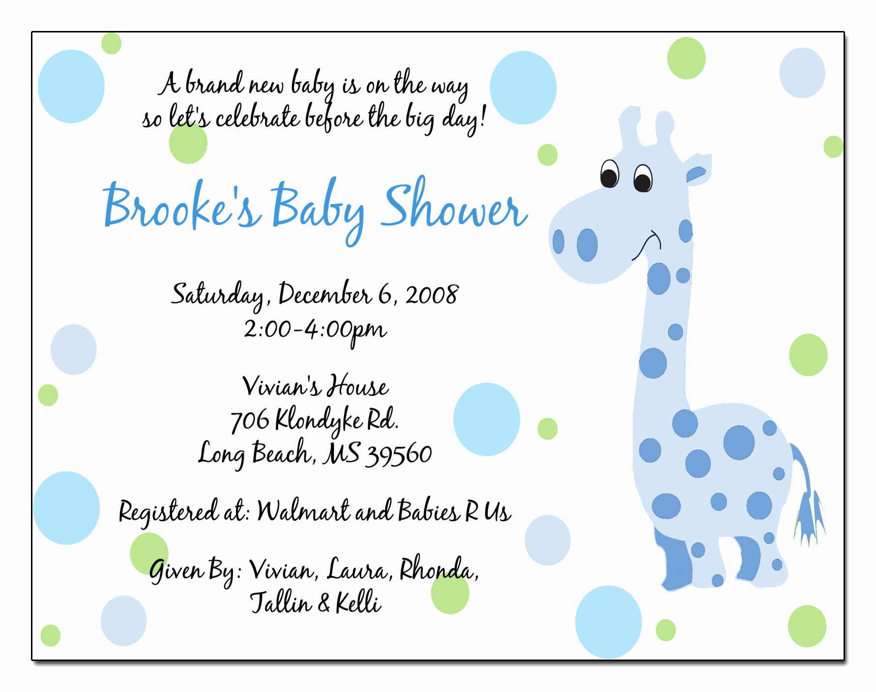Baby Shower Invitation Examples New Baby Boy Shower Invitations Wording Ideas