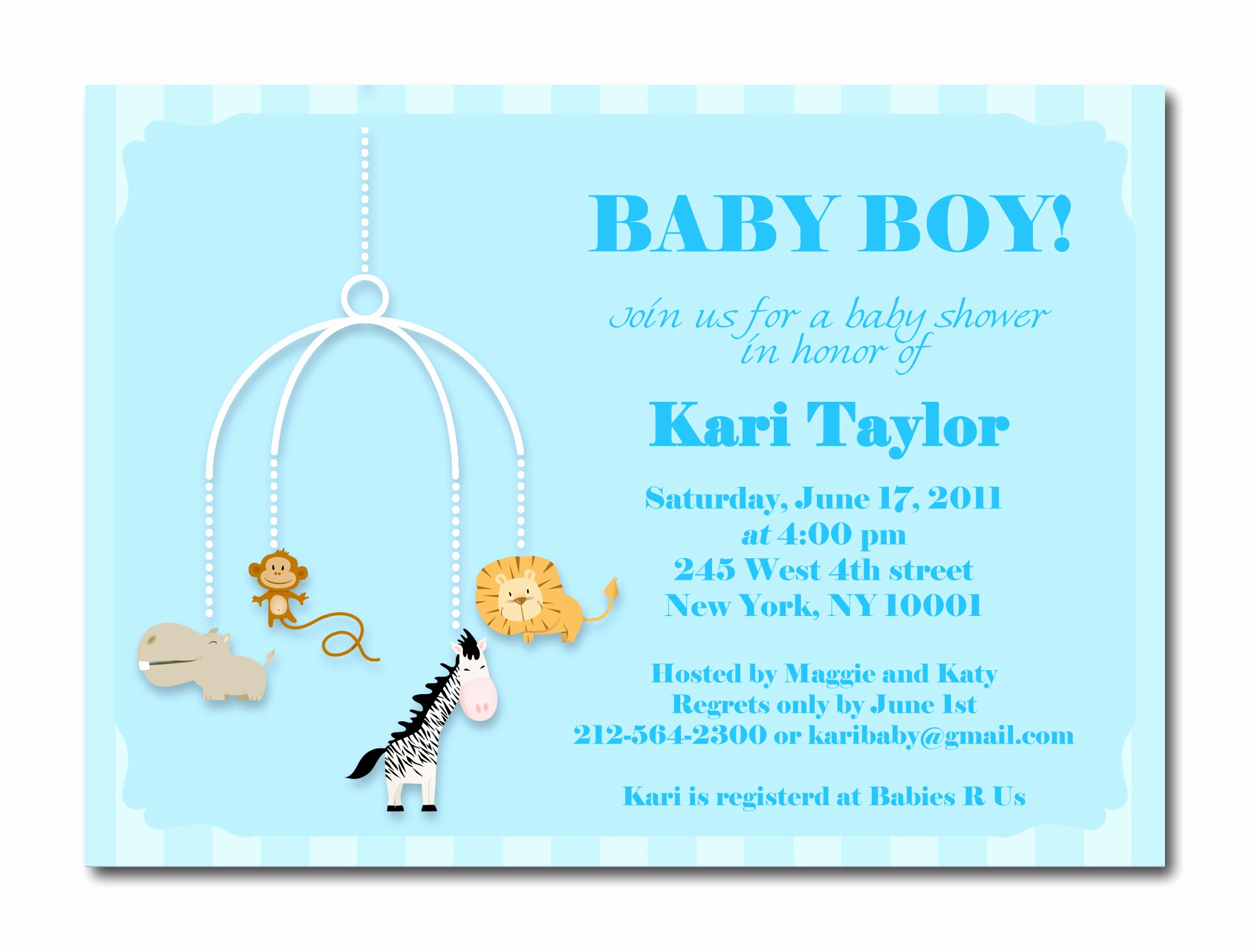 Baby Shower Invitation Examples Unique Baby Boy Shower Invites
