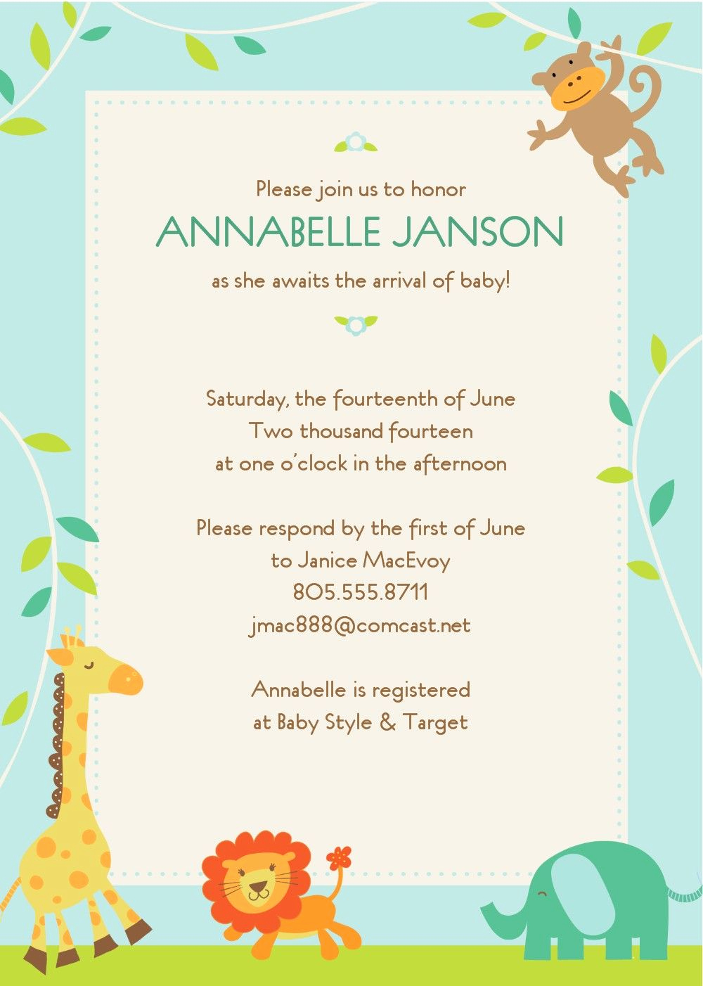 Baby Shower Invitation Examples Unique Free Baby Shower Invitations Templates Template Cebacanada