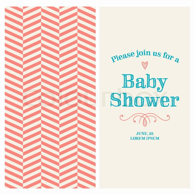 Baby Shower Invitation Font Awesome Baby Shower Invitation Card Editable with Vintage Retro