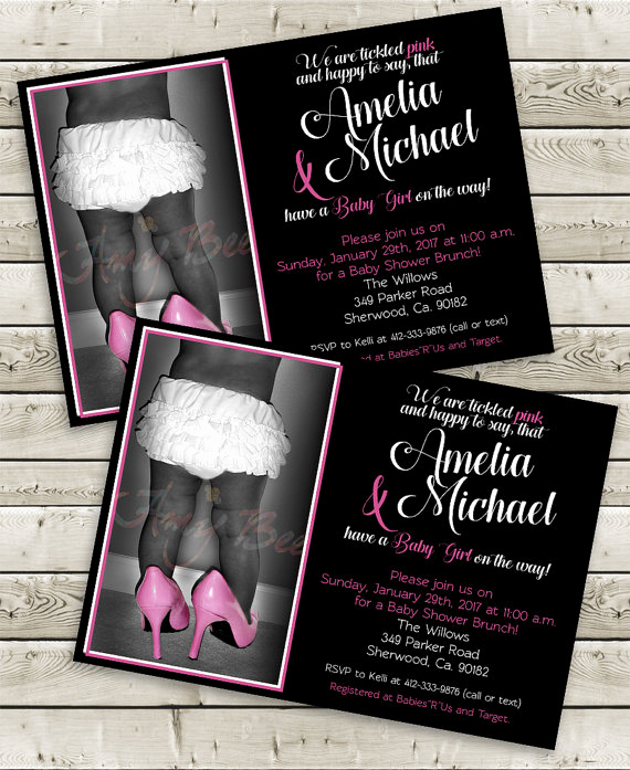 Baby Shower Invitation Font Best Of Baby Girl Ruffles Shower Invitation Script Font