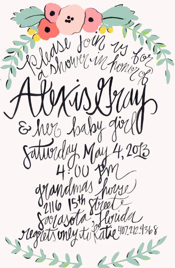 Baby Shower Invitation Font Elegant Calligraphy Baby Shower Invitations