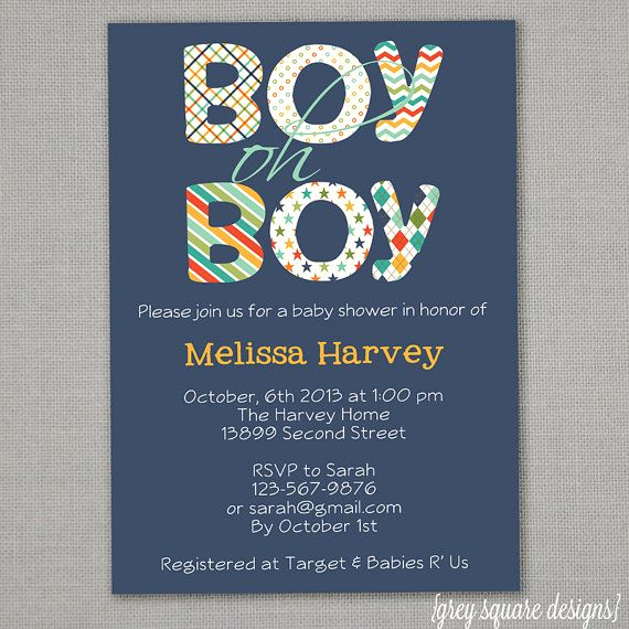 Baby Shower Invitation Font Inspirational Boy Oh Boy Baby Shower Invitation