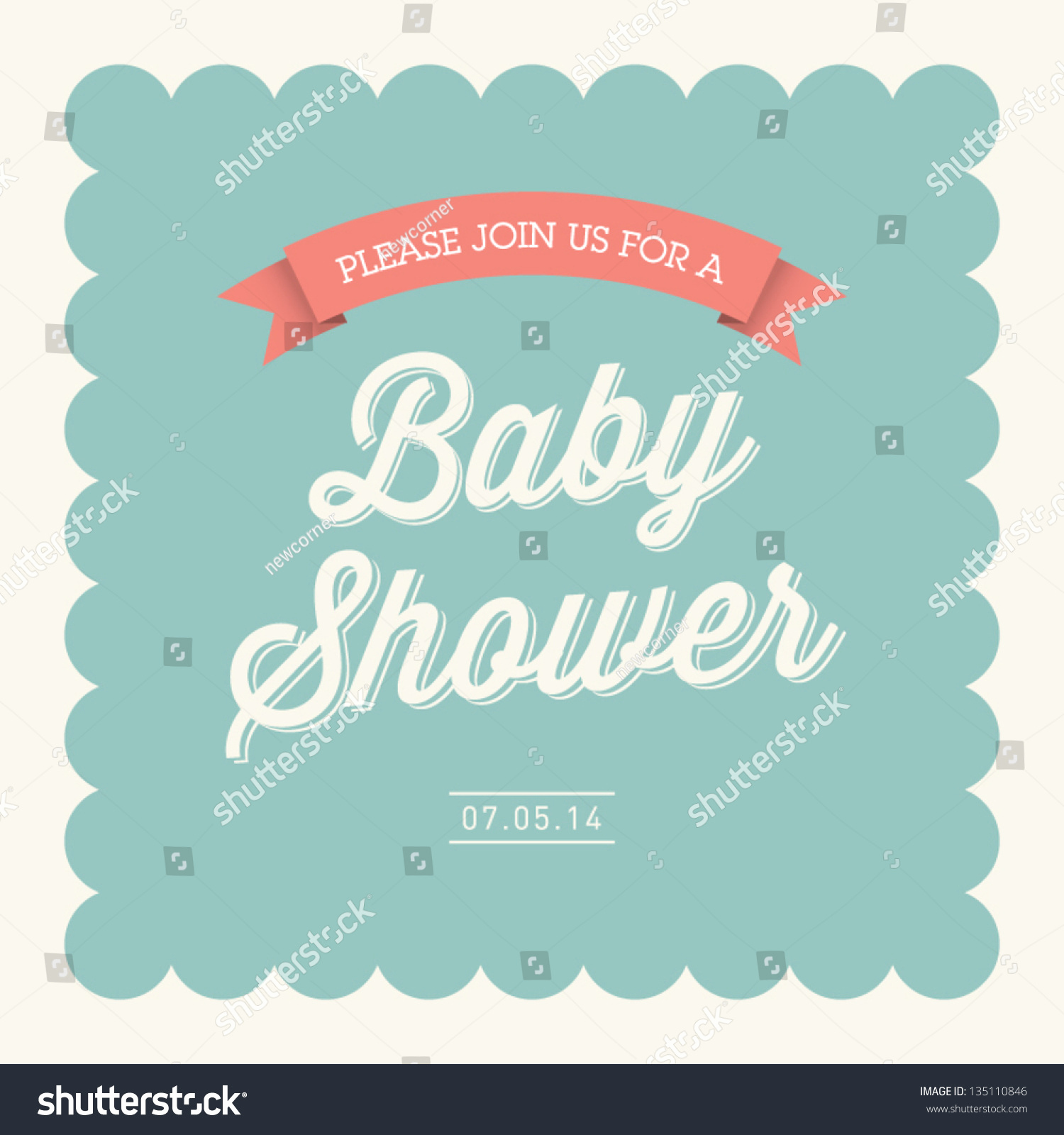 Baby Shower Invitation Font Lovely Baby Shower Invitation Card Editable Type Stock Vector
