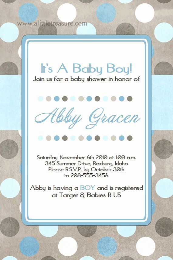 Baby Shower Invitation Font Luxury Printable Baby Boy Shower Invite Blue and Brown Baby