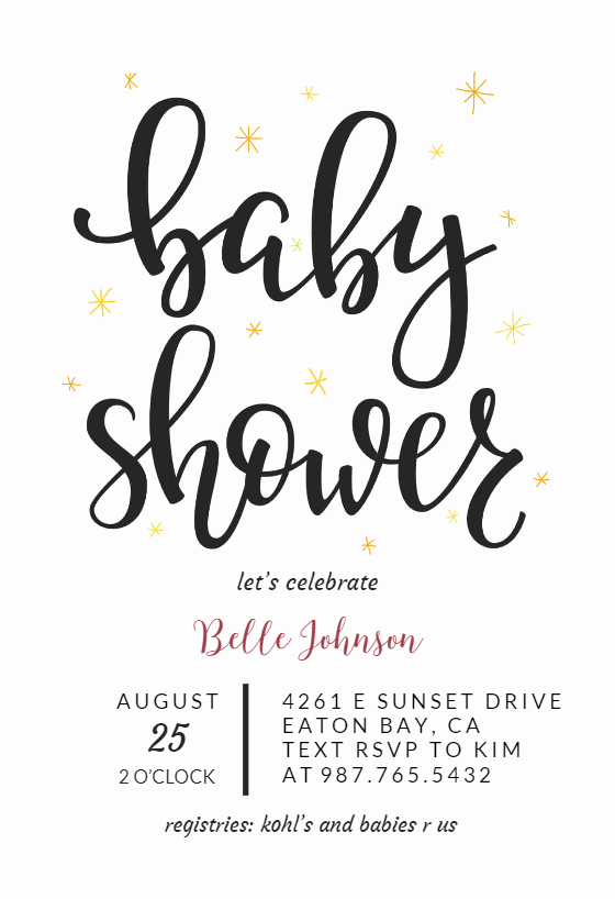 Baby Shower Invitation Fonts Lovely Hand Lettering Baby Shower Invitation Template Free