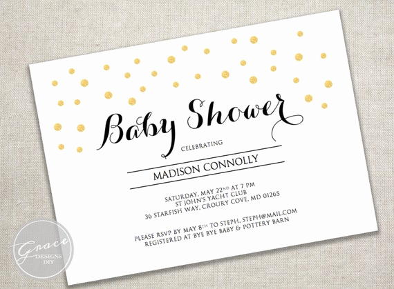 Baby Shower Invitation Fonts Unique Printable Baby Shower Invite Black Calligraphy Style Font