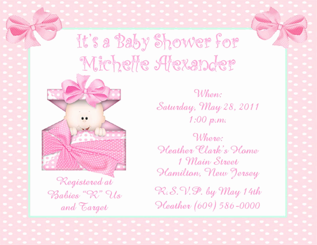 Baby Shower Invitation for Girl Awesome Baptism Invitation Template Baptism Invitation Blank