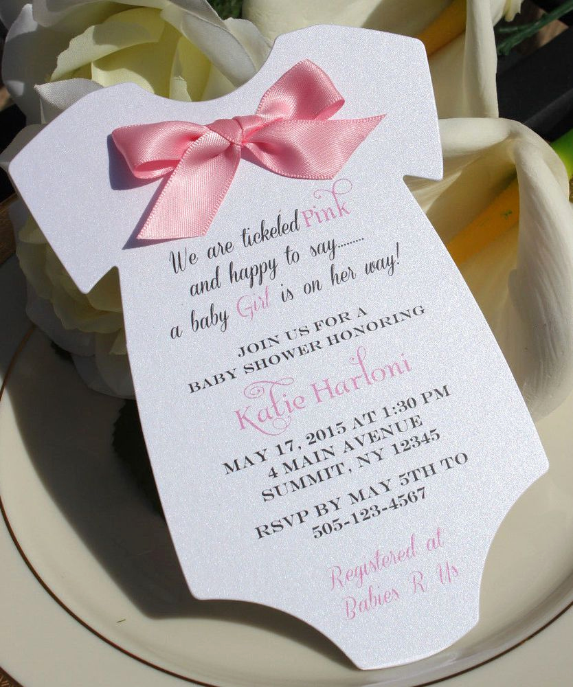 Baby Shower Invitation for Girl Beautiful Baby Shower Invitation for Girl In Shape Of Esie with