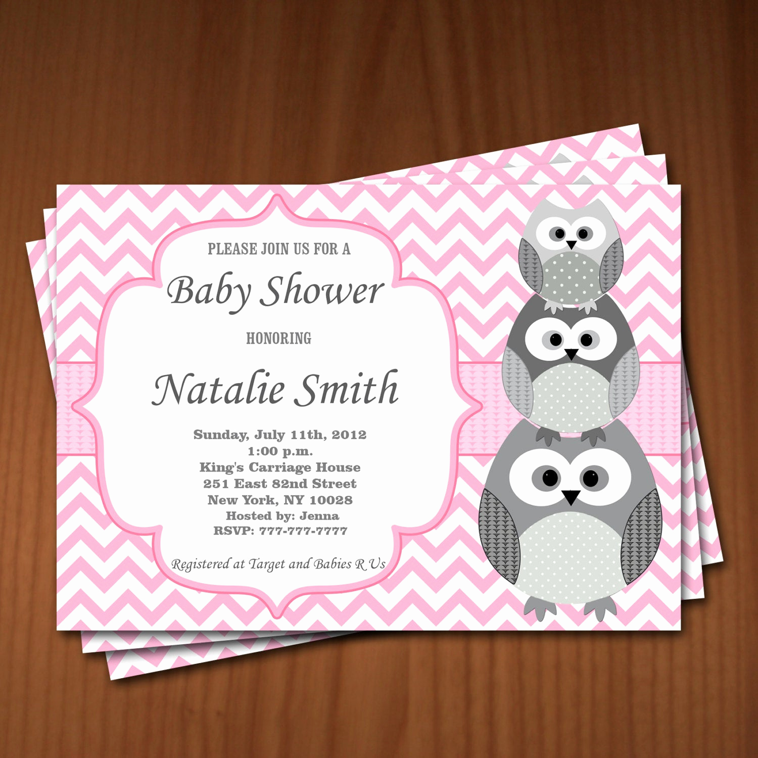 Baby Shower Invitation for Girl Beautiful Owl Baby Shower Invitation Girl Baby Shower Invitations