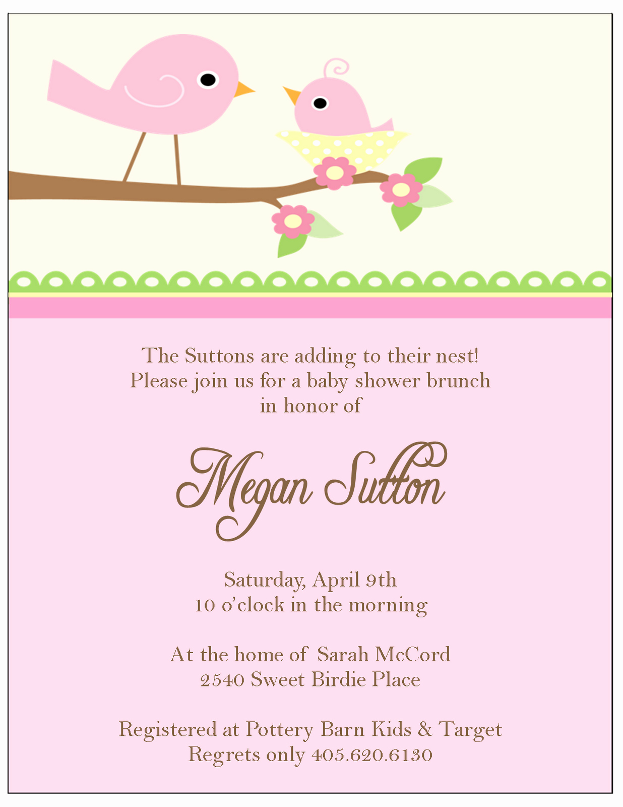 Baby Shower Invitation for Girl Beautiful the Sweet Peach Paperie Little Bir Baby Shower Invitations