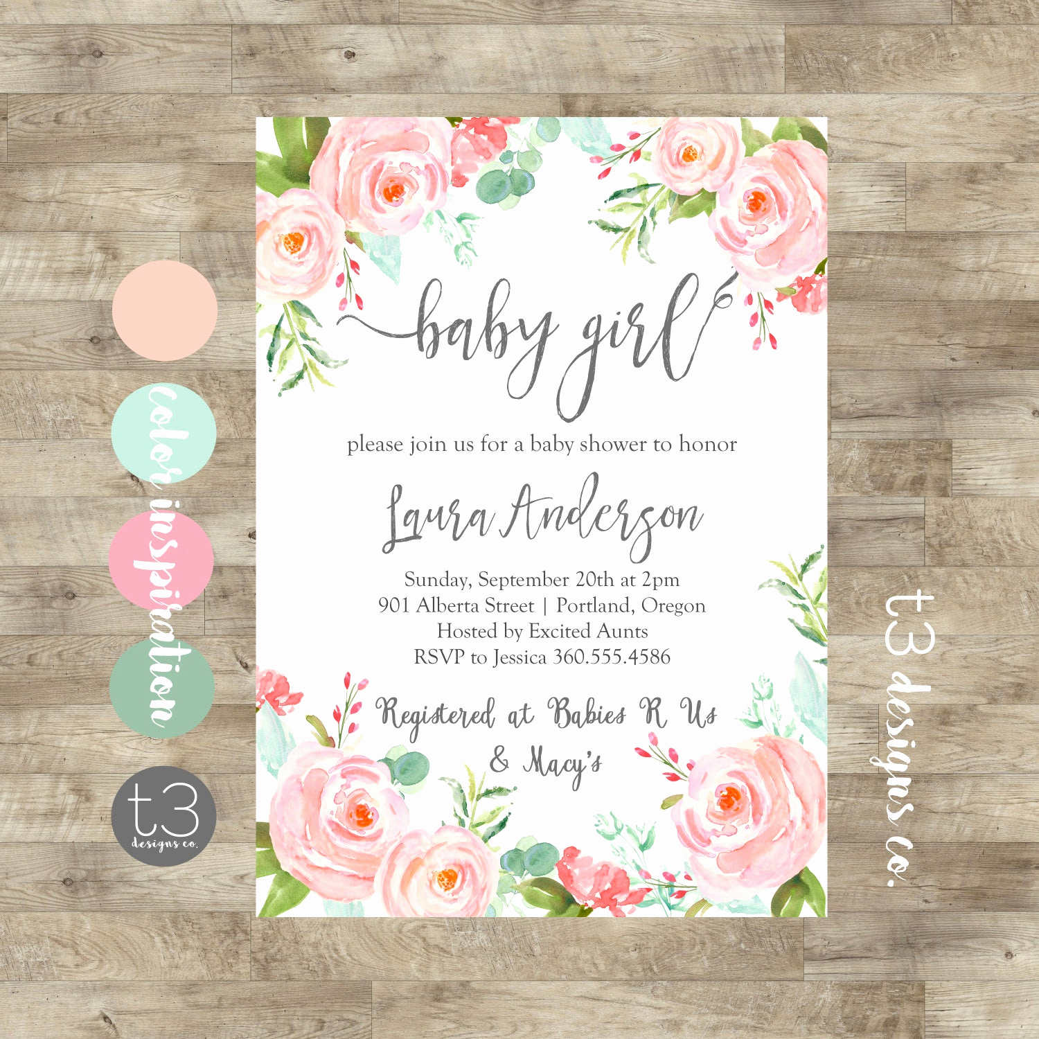 Baby Shower Invitation for Girl New Floral Girl Baby Shower Invitation Baby Girl Shower Invite
