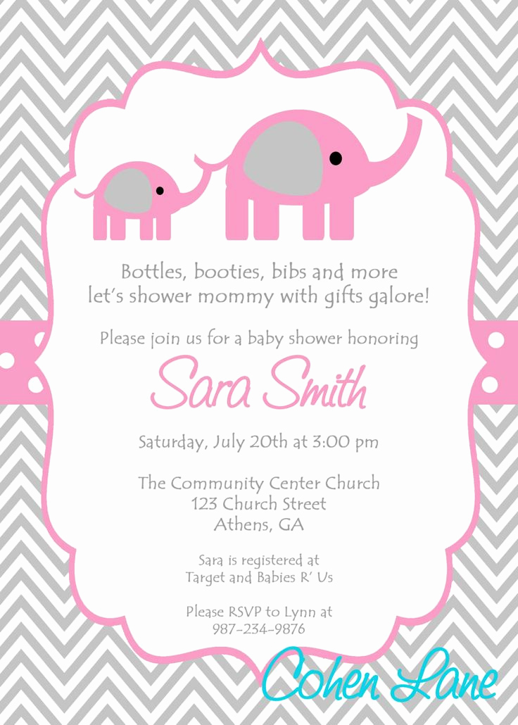 Baby Shower Invitation for Girls Awesome Baby Shower Girl Invitations Templates