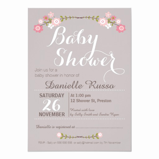 Baby Shower Invitation for Girls Awesome Girly Cute Pink Girl Baby Shower Invitations & Party Ideas