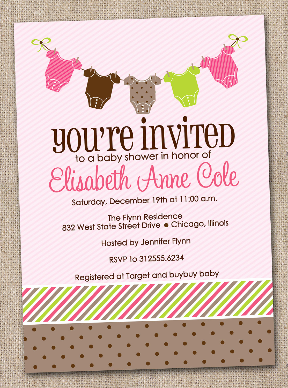 printable baby shower invitations girl