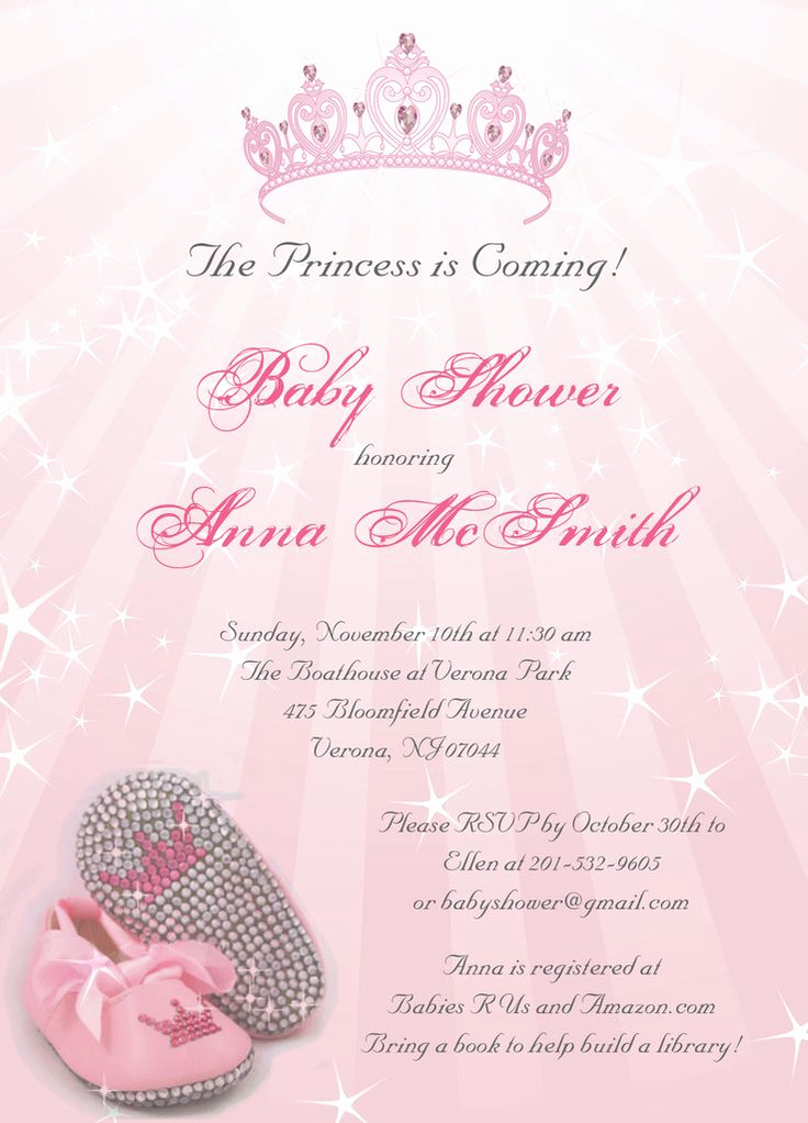 Baby Shower Invitation for Girls Elegant 25 Best Ideas About Princess Baby Showers On Pinterest