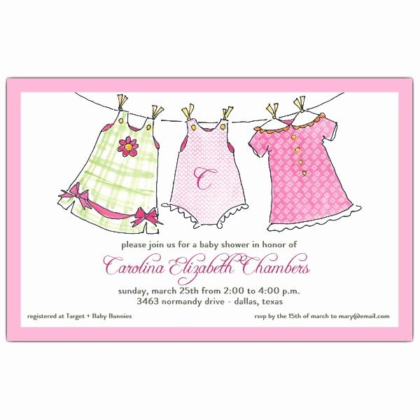 Baby Shower Invitation for Girls Fresh Little Girls Outfits Baby Shower Invitations