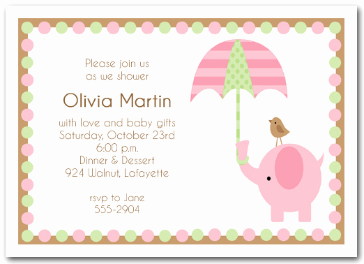 Baby Shower Invitation for Girls Luxury Baby Shower Invitations