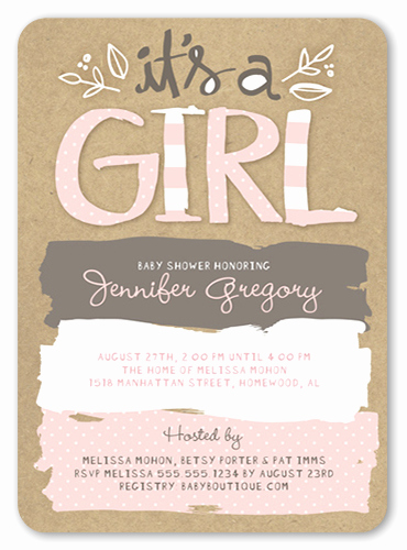 Baby Shower Invitation for Girls Luxury Pattern Shower 5x7 Girl Baby Shower Invitation