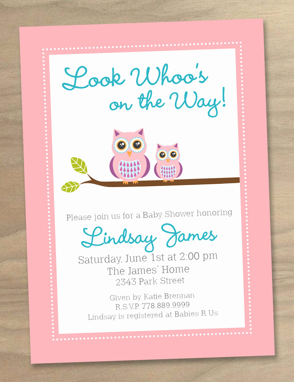 Baby Shower Invitation for Girls Unique Baby Shower Invitation Pink Purple Blue Baby Girl Cute