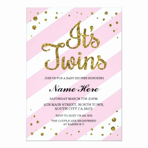 Baby Shower Invitation for Twins Beautiful Twin Baby Shower Invitations