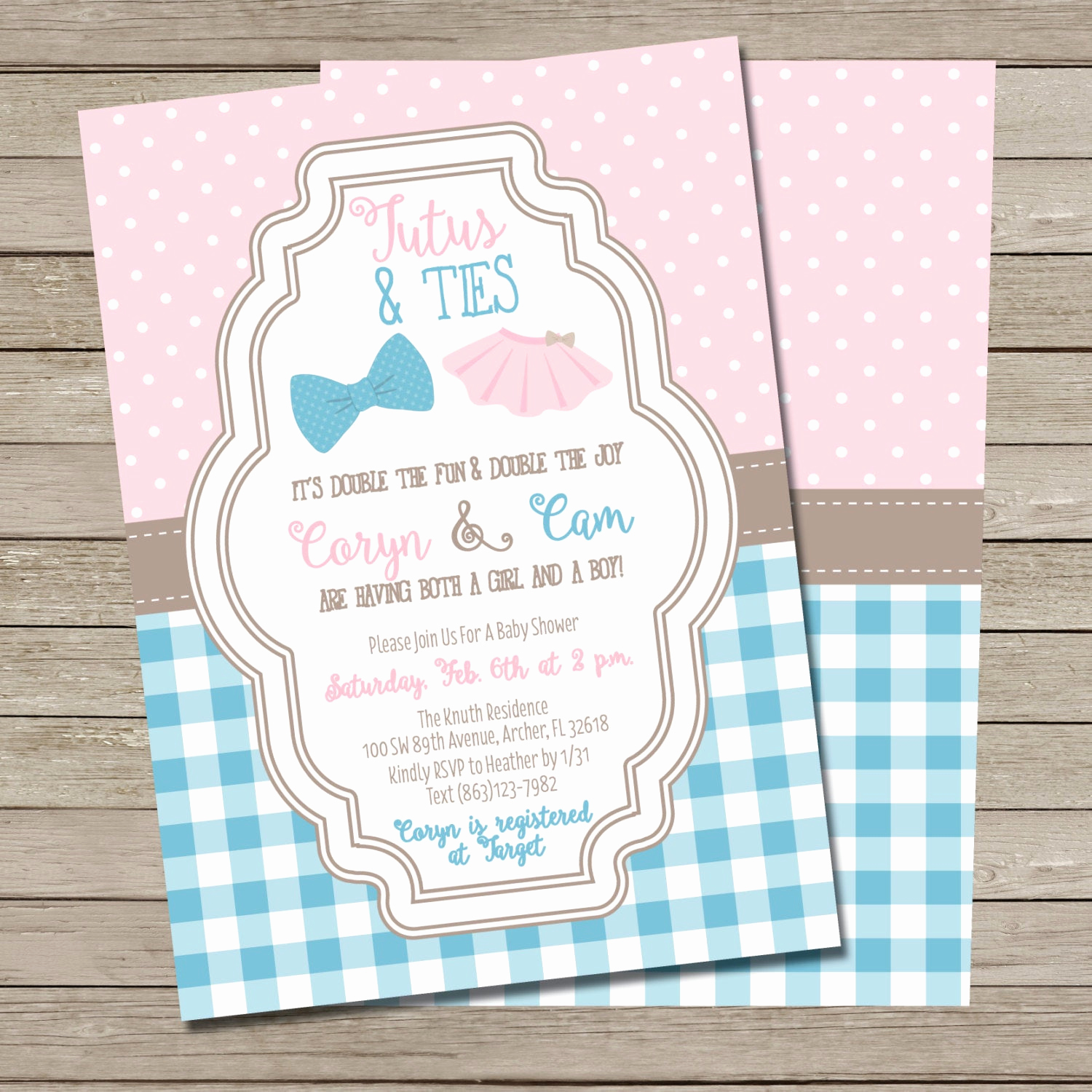Baby Shower Invitation for Twins Luxury Tutus and Ties Baby Shower Invitation Printable Boy and Girl