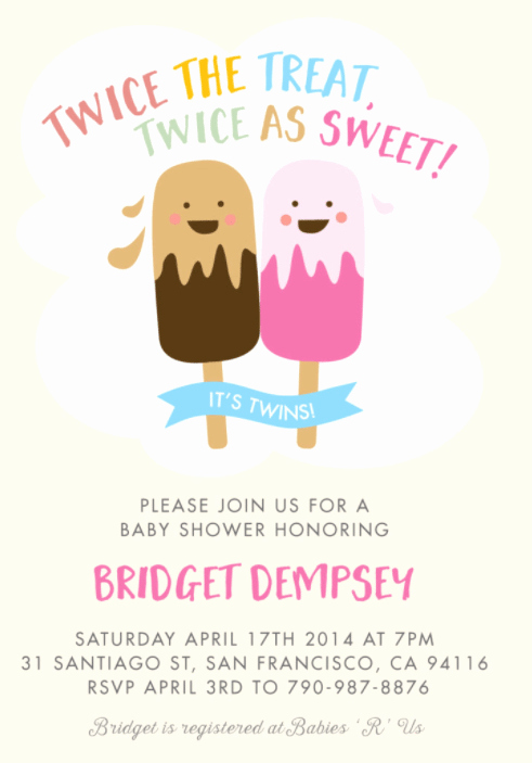 Baby Shower Invitation for Twins New the Best Twins Baby Shower Invites Twiniversity