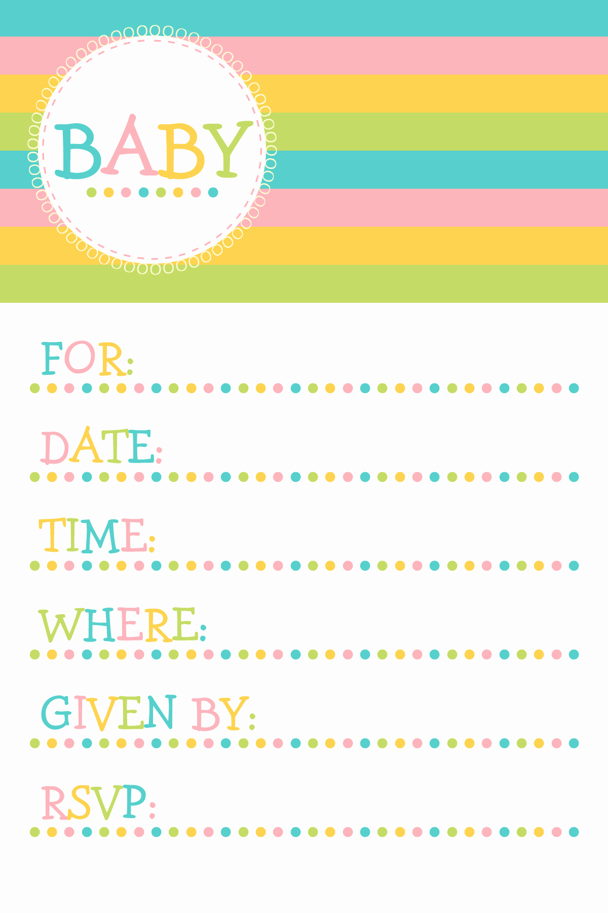 Baby Shower Invitation Free Printable Awesome Baby Shower Invitation Templates