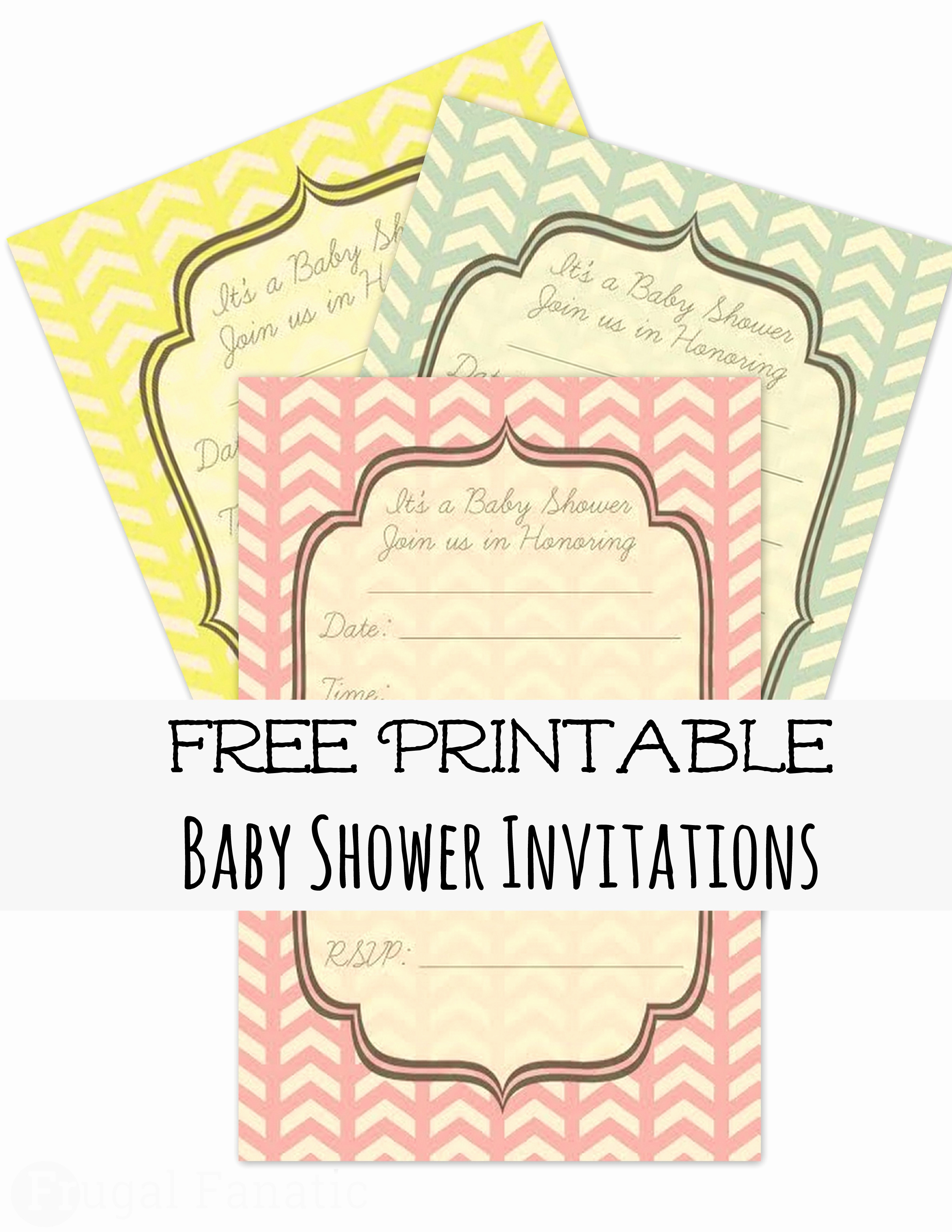 Baby Shower Invitation Free Printable Beautiful Free Baby Shower Invites Frugal Fanatic
