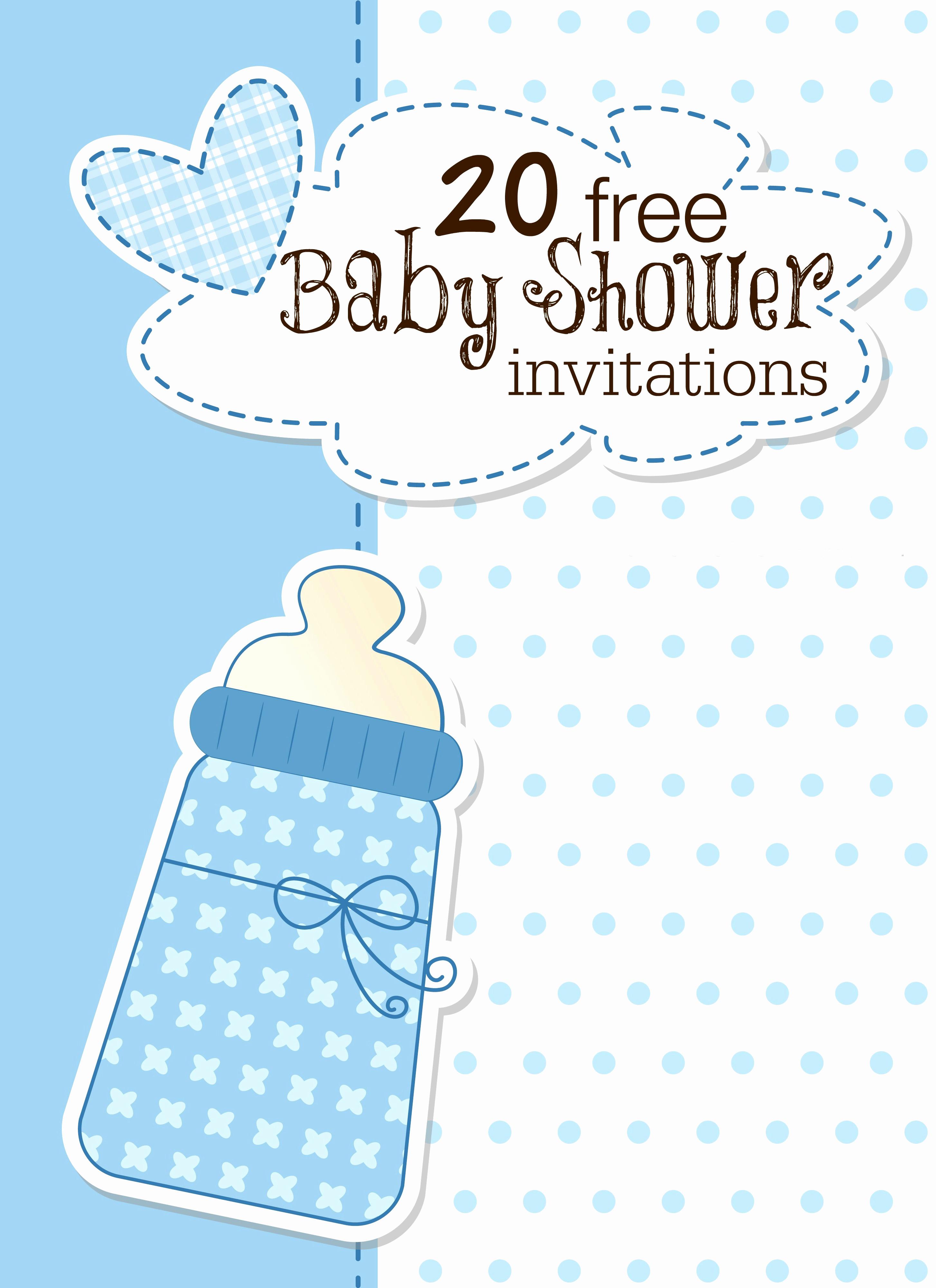 Baby Shower Invitation Free Printable Inspirational Printable Baby Shower Invitations