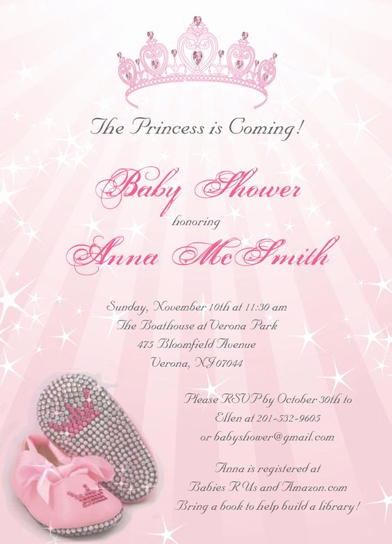 Baby Shower Invitation Ideas Girl Beautiful Princess Baby Shower Invitations