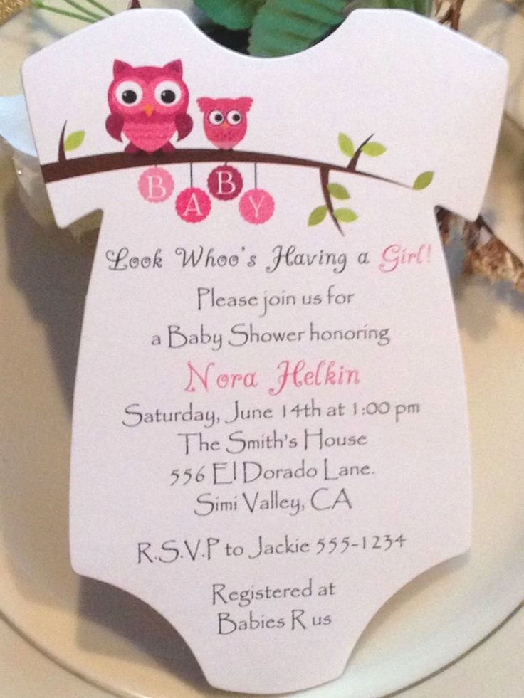Baby Shower Invitation Ideas Girl Elegant Owl Esie Baby Shower Invitation for Boy or Girl