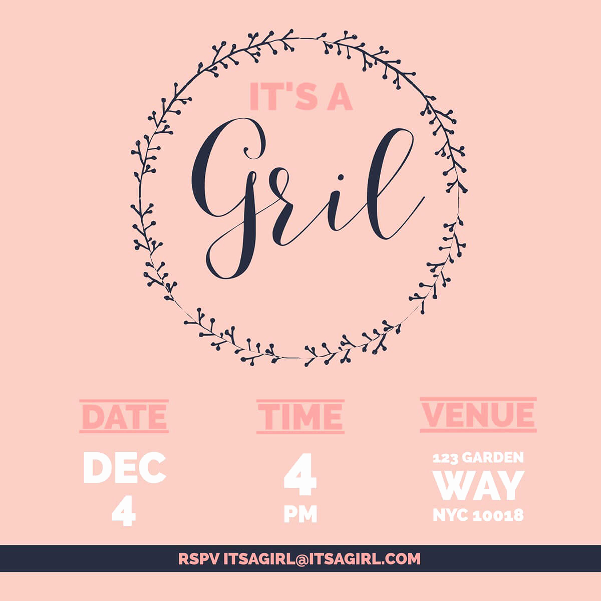 Baby Shower Invitation Ideas Girl Inspirational Make Your Own Baby Shower Invitations for Free