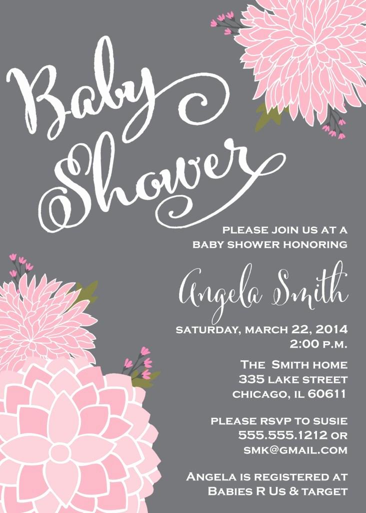 Baby Shower Invitation Ideas Girl Inspirational Pink and Gray Baby Shower Invitations Party Xyz