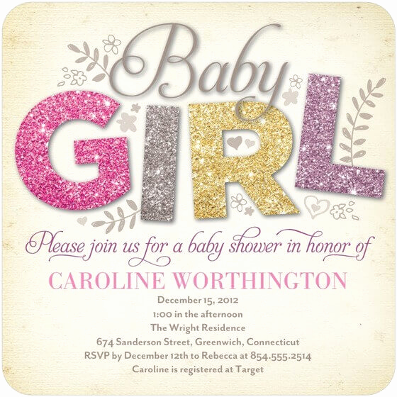 Baby Shower Invitation Ideas Girl New the Reference to Get Baby Shower Invitation Ideas