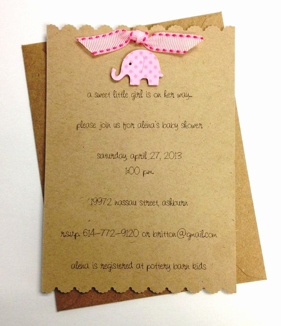 Baby Shower Invitation Ideas Homemade Awesome 17 Best Ideas About Elephant Baby Showers On Pinterest