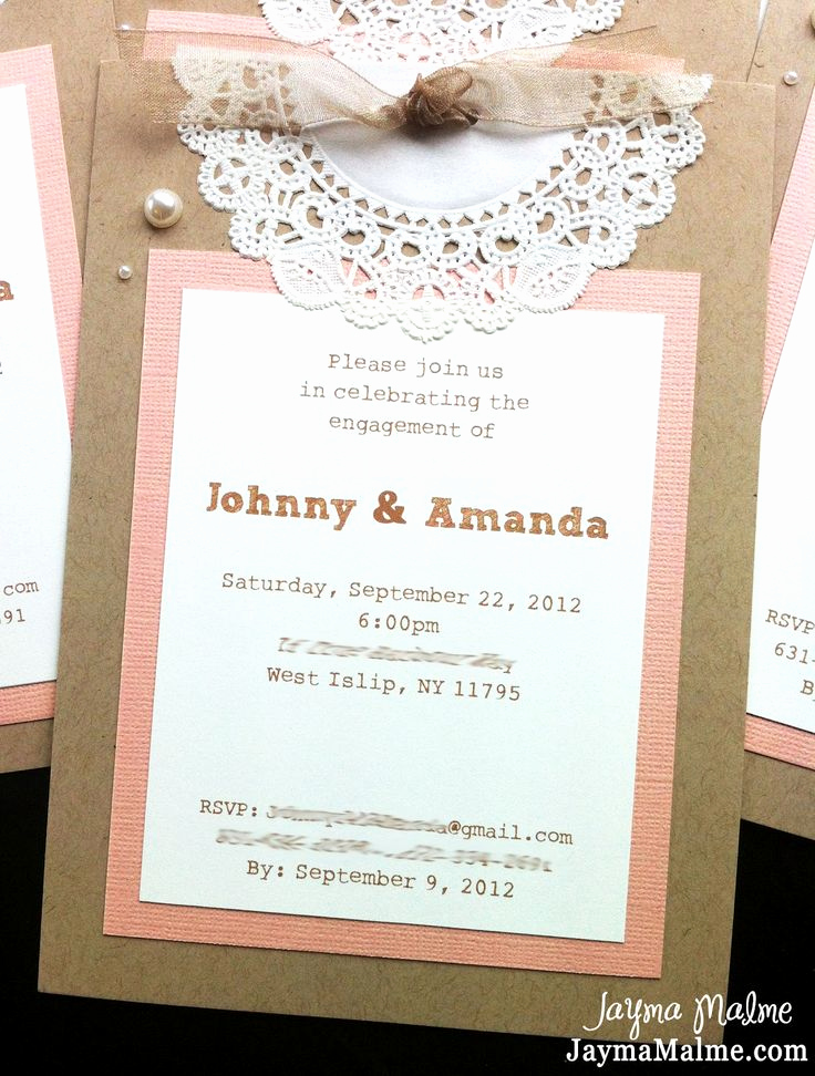 Baby Shower Invitation Ideas Homemade Beautiful 25 Best Ideas About Doily Invitations On Pinterest