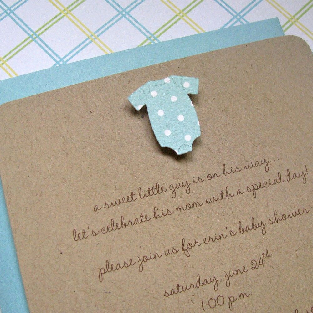 Baby Shower Invitation Ideas Homemade Best Of Handmade Baby Boy Pool Esie Baby Shower Invitations