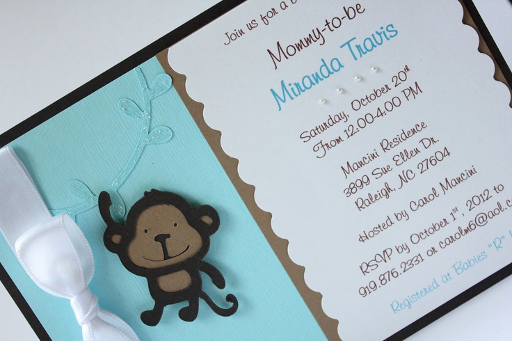 Baby Shower Invitation Ideas Homemade New Pinterest • the World's Catalog Of Ideas