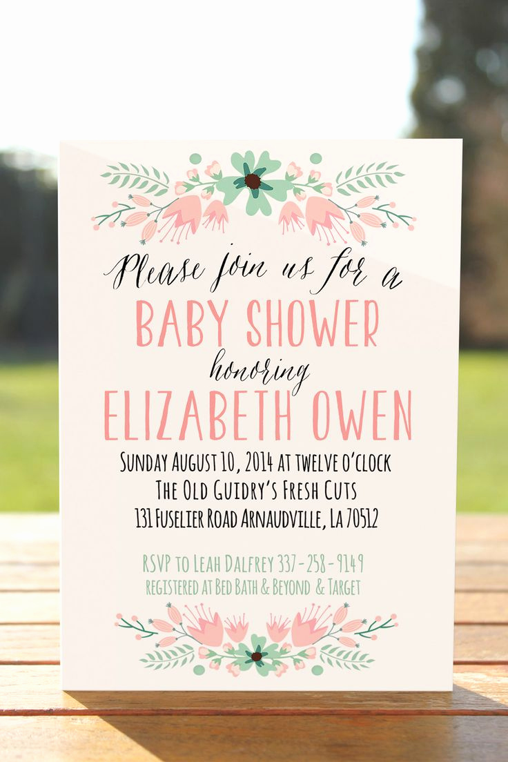 Baby Shower Invitation Ideas Inspirational Best 25 Invitations Baby Showers Ideas On Pinterest