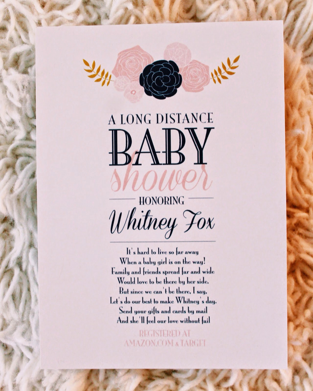 Baby Shower Invitation Ideas New Life as A Fox Long Distance Baby Shower