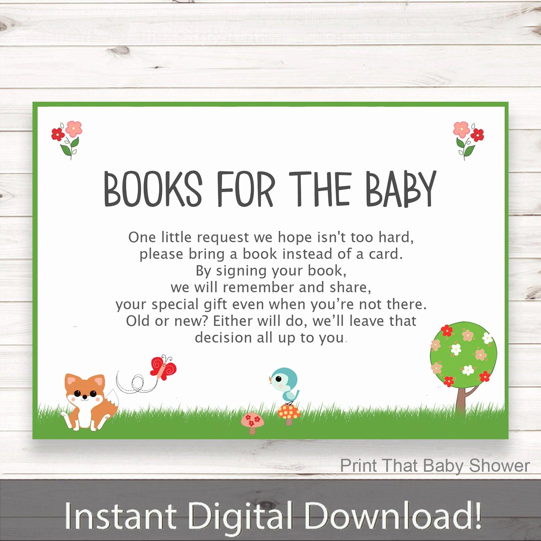 baby shower invitation insert woodland