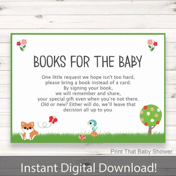 Baby Shower Invitation Inserts Beautiful Baby Shower Invitation Insert Woodland Books for Baby Baby