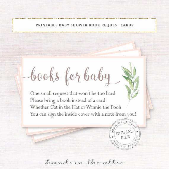 Baby Shower Invitation Inserts Beautiful Books for Baby Inserts Floral Baby Shower Invitation Request