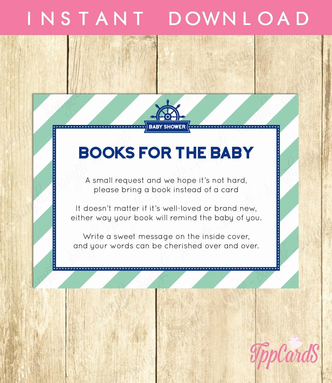 Baby Shower Invitation Inserts Elegant Bring A Book Baby Shower Invitation Insert Instead Of A Card