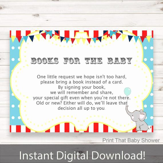Baby Shower Invitation Inserts Fresh Baby Shower Invitation Insert Circus Books for Baby Baby
