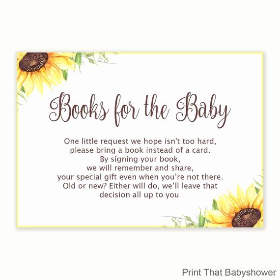 Baby Shower Invitation Inserts Inspirational Baby Shower Invitation Insert Floral Books for Baby