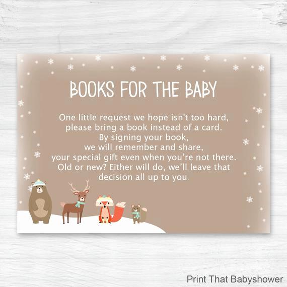 Baby Shower Invitation Inserts Inspirational Baby Shower Invitation Insert Woodland Books for Baby